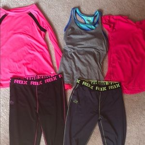 Collection of girls activewear
